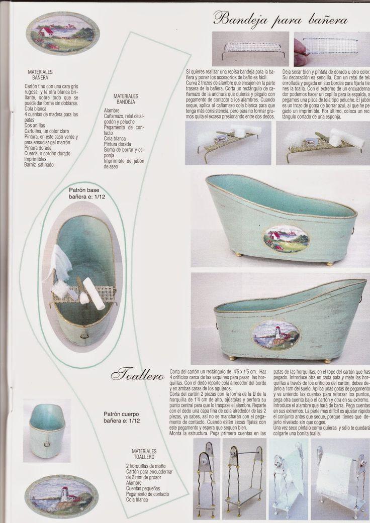 MIS RINCONES EN MINIATURA: Muebles y complementos para el baño