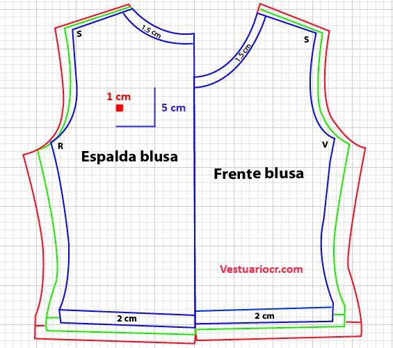 patrones de blusas gratis