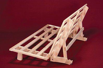 Amazon.com - Full Size Bi-Fold Futon Sofa Bed - Frame Only - Bi Fold Hardwood Futon Frame