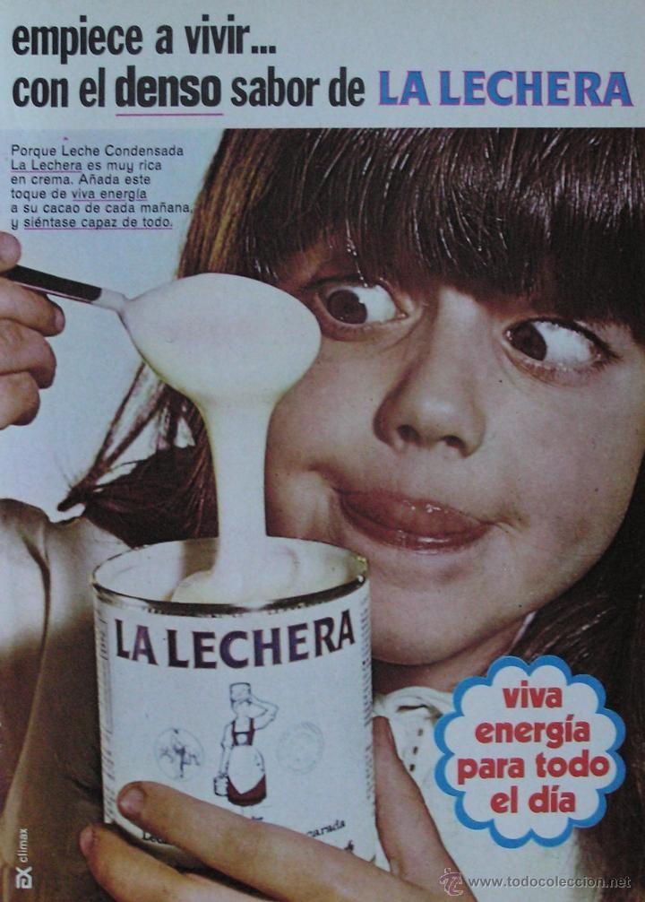LECHE CONDENSADA LA LECHERA. AÑOS 60.