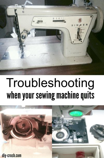 Troubleshooting when your sewing machine quits. Things to check before taking it into the shop.