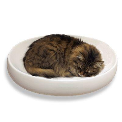 little cat design - cat's contour ceramic cat bed, for the sink lovers.