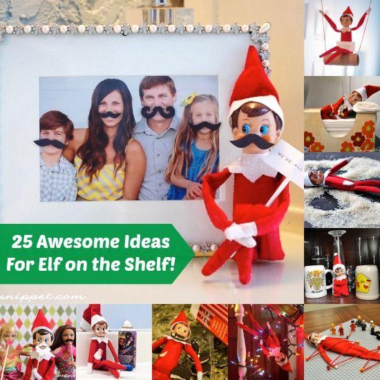 25 Awesomely Fun Elf on the Shelf Ideas! - diycandy.com