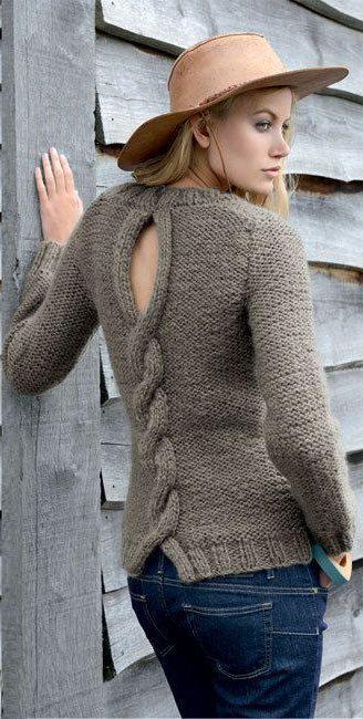 Suéter mano de punto de las mujeres hecha a mano por BANDofTAILORS