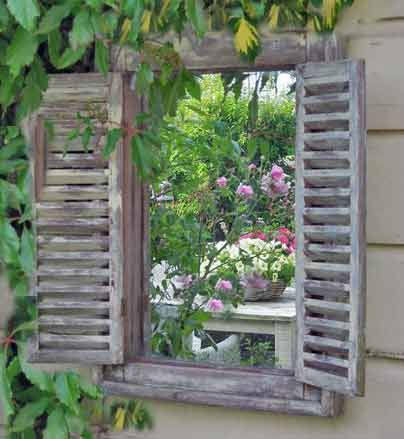Tall elegant wall mirror. Shuttered mirror with grey washed wood finished with distressed character. DIMENSIONS (WDH)= 64 x 5 x 94cm The two louvred doors are hinged so that you can have each shutter door open, one open or both ajar to suit your mood. Use anywhere in your home to add depth and interest to your wall. Dimensions WxDxH: 70 x 3 x 140cm Price includes delivery to Mainland U.K