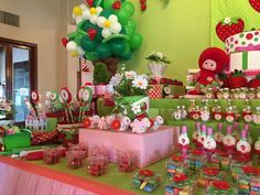Sweet Sofia's Strawberry Shortcake Party!   CatchMyParty.com