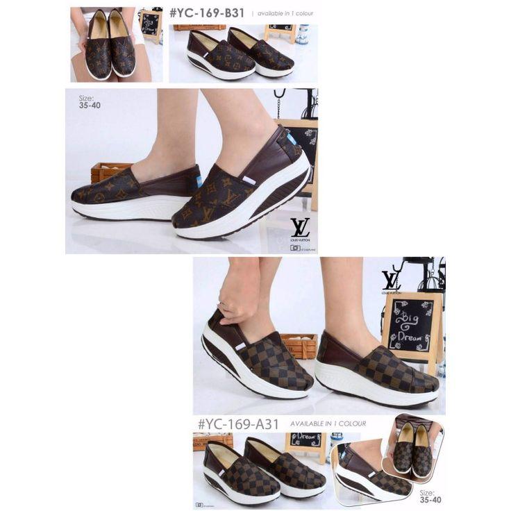 Sepatu LV Wedges YC-169 6cm 35-40 255rb