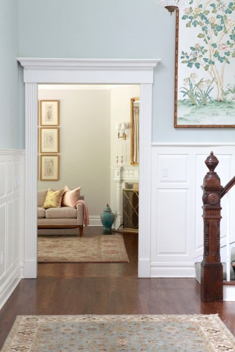 moulding: The Doors, Living Rooms, Entryway Moldings, Doors Trim, Wall Color, Paintings Color, Families Rooms, Woodworking Forthehom, Doors Mould
