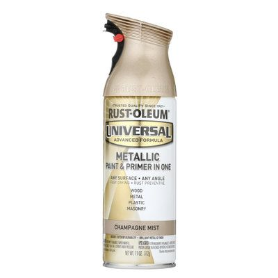 Rust-Oleum Universal 11 oz. All Surface Metallic Champagne Mist Spray Paint and Primer in One 261415 at The Home Depot - Mobile