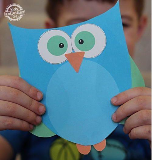 Cute and Easy Printable Owl Template | AllFreeKidsCrafts.com