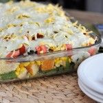 Permalink to: Layered  Mexican Cornbread Salad