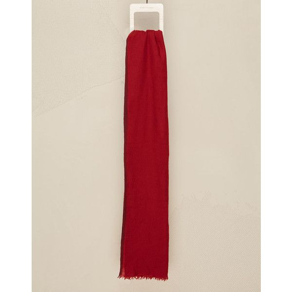 Brunello Cucinelli Scarf (20.240 CZK) ❤ liked on Polyvore featuring men's fashion, men's accessories, men's scarves, red, mens red scarves and mens cashmere scarves