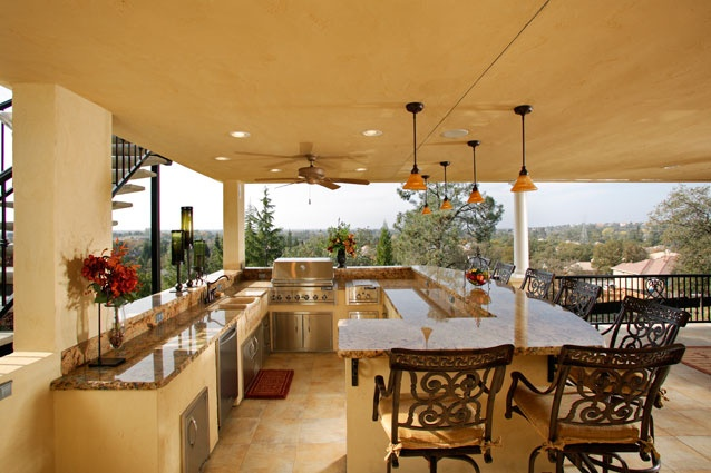 Entertain your guests in style this outdoor open air bar for Kitchen design visit