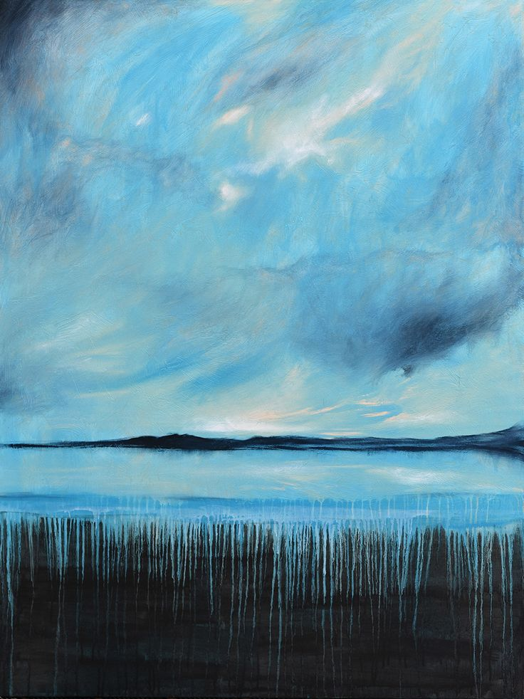 Bay of Silence - Acrylic on canvas - by New Zealand artist Julian Hindson - 900mm x 1200mm - www.hindson.co.nz
