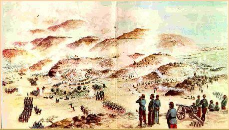 Panorámica del avance chileno sobre la línea fortificada de Chorrillos