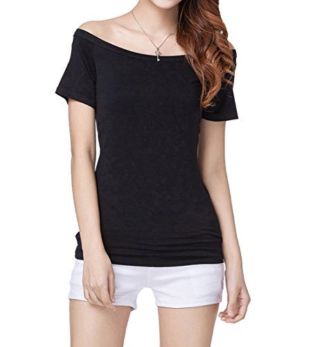 Special Offer: $13.99 amazon.com NameWomen's Short Sleeve Vogue Fitted Off Shoulder Modal Blouse Top T-shirt Item Type Casual & Sexy Style Off shoulder Gender Women Material For Shirt Modal Fabric Color Beige, Black, Blue,Dark Red, Grey, Purple, Red, Stripe Size...