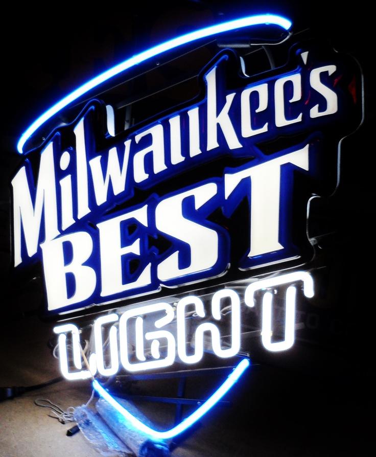 Vintage Stadium Lights: MILWAUKEES BEST LIGHT Neon Bar Sign, Circa 2004