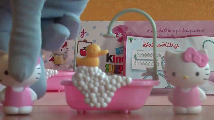 Ružová Hello Kitty Maxi Kinder Surprise Vajíčko Hračka FF-S-2, FF-S-1