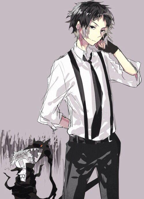 Akutagawa and Atsushi - Bungou Stray Dogs. | Omigod someone kill meeee. This is amazing. Look at Atsushi in the back freaking about Akutagawa's Rashamon. I will TREASURE this.