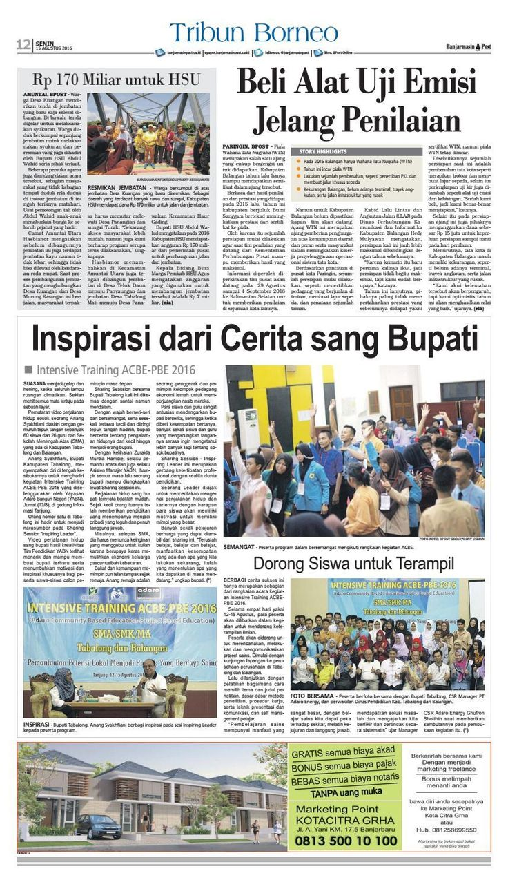 #ClippedOnIssuu from Banjarmasin Post Senin 15 Agustus 2016