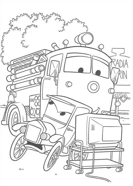 free disney cars coloring pages - Disney Cars Activities