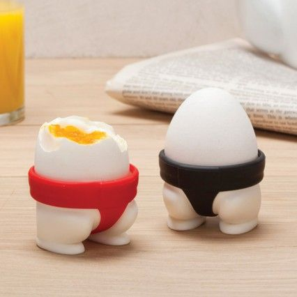 Sumo Egg Cups - set of 2 novelty egg cups - Luckies