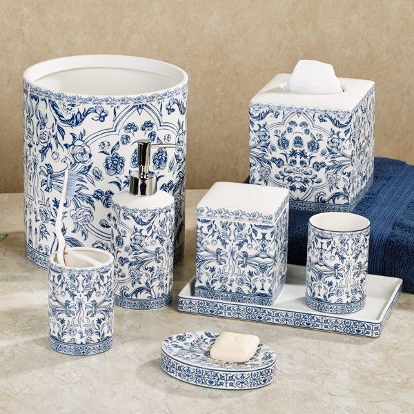 Blue White Bath Accessories Gump S Blue And White Blue And White China Blue Bathroom