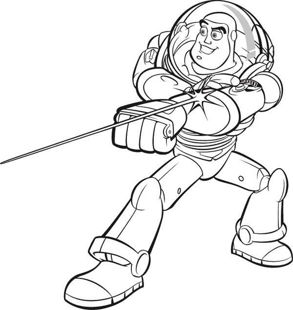 buzz lightyear fight coloring pages for kids printable toy story coloring pages for kids