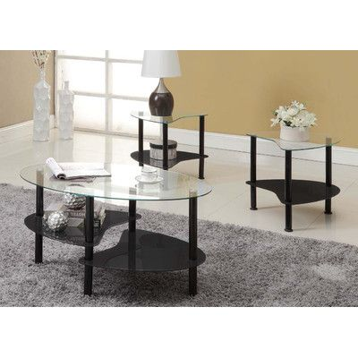Crescent Coffee Table Set