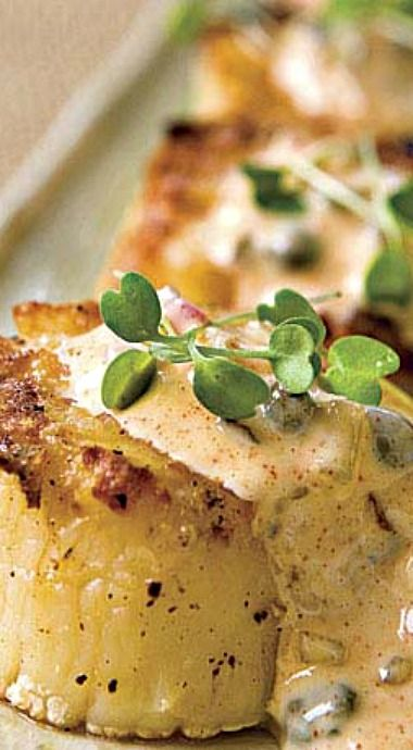 Grilled Scallops with Rémoulade Sauce