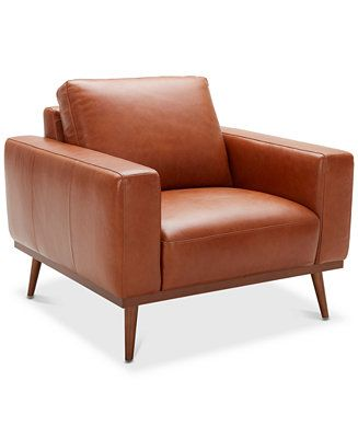 Furniture Closeout Marsilla 39 Quot Leather Armchair Created