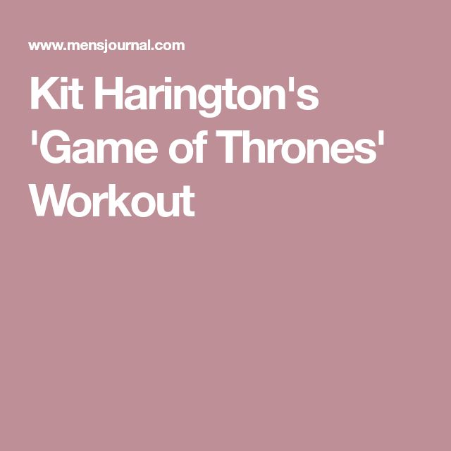 Kit Harington's 'Game of Thrones' Workout