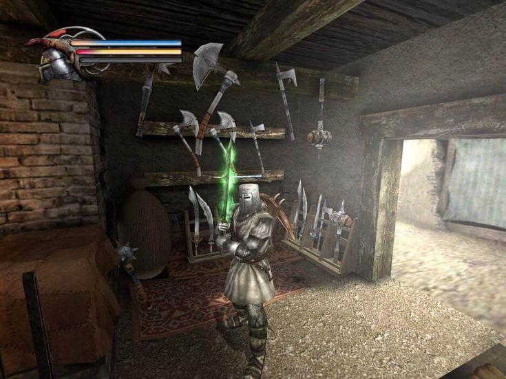 """Knights Of The Temple II PS2 es un juego de rol centrado en el combate, y por supuesto, te metes en las botas de placas del héroe medieval Paul de Raque, que luce un bonito casco ancho y murmura sobre el """"único Dios verdadero"""". Está buscando tres objetos que le permitan cerrar un portal..."""