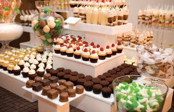 A sweets bar? Why not?   Wedding, Reception, Candy, Bar - Photo by Oh How Charming