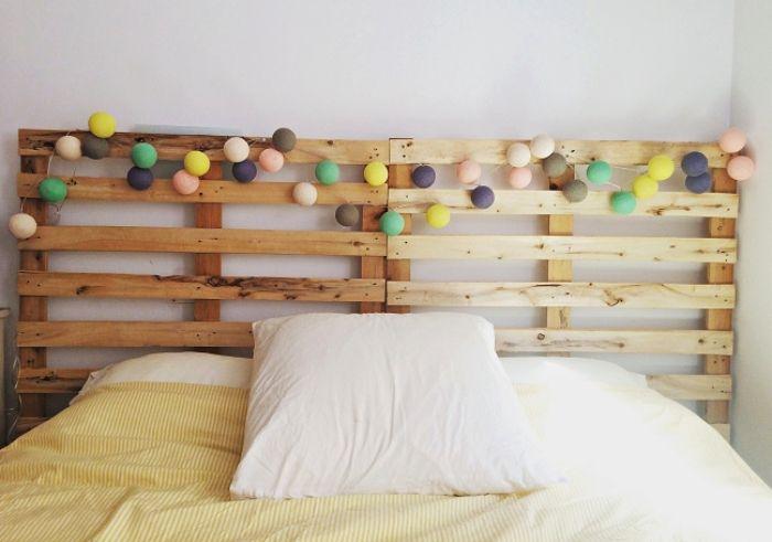 1001 Modeles Pour Une Tete De Lit En Palette De Bois Diy Bed Pillows Bed Pillows