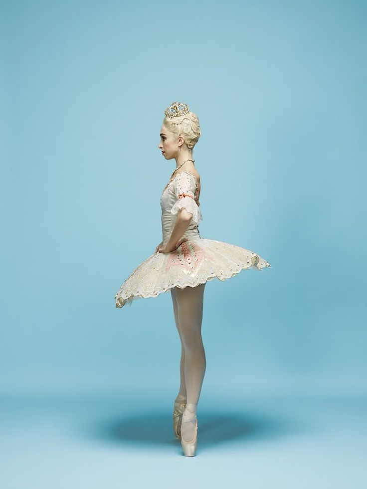 Principal Ballerina Yasmine Naghdi, The Royal Ballet, in Nutcracker as Sugar Plum Fairy, 2017. Photoshoot for The Times newspaper
