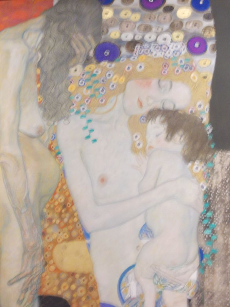 Gustav Klimt - The Three Ages of Woman ( detail ) Roma, GNAM