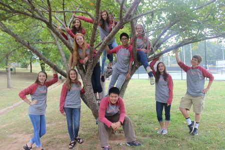 Picture of Yearbook Staff In Autumn Custom T-Shirt Design