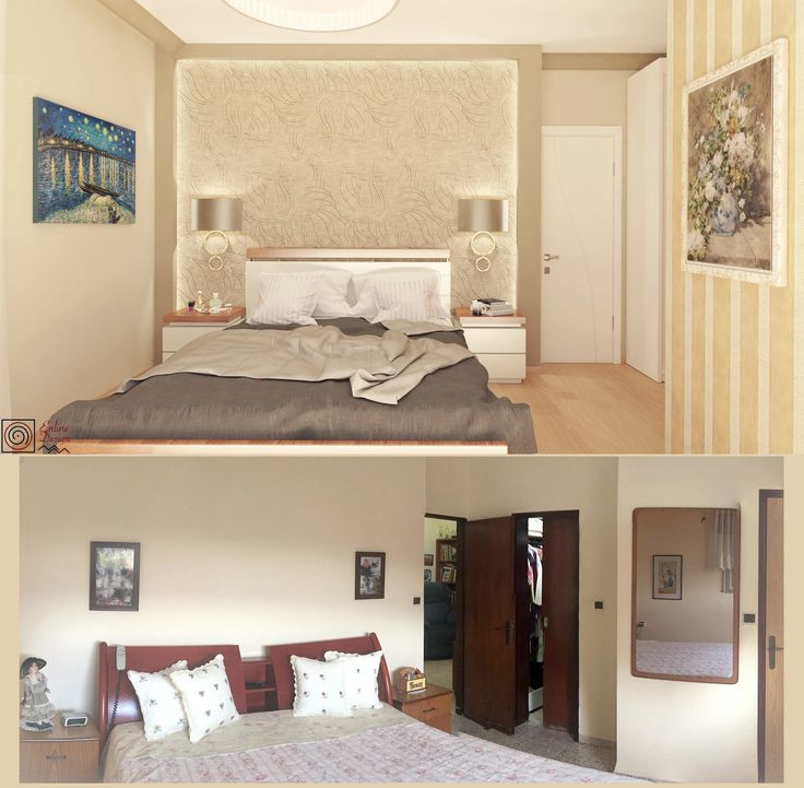 Before and after bedroom classic design by ENLINE DESIGN.