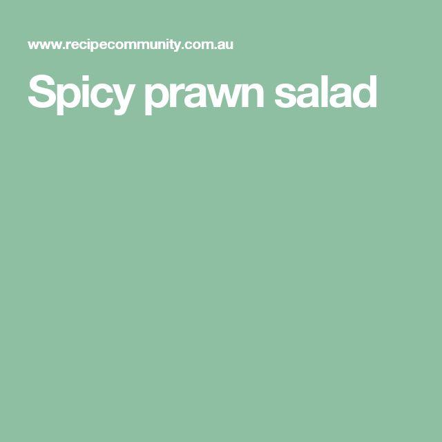 Spicy prawn salad