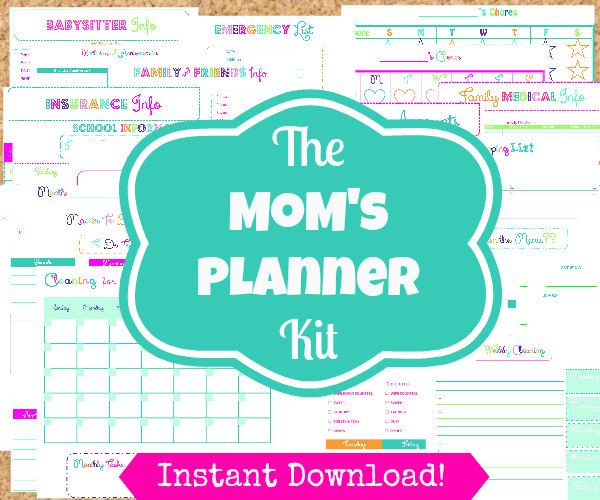 INSTANT+Download+Mom+Planner+24+Editable+Pdf+by+OrganizedWhimsy,+$15.00