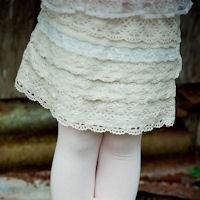 Tea Princess kanten rokje in ivoorwit - Manou fashionkids - Exclusieve meisjeskleding