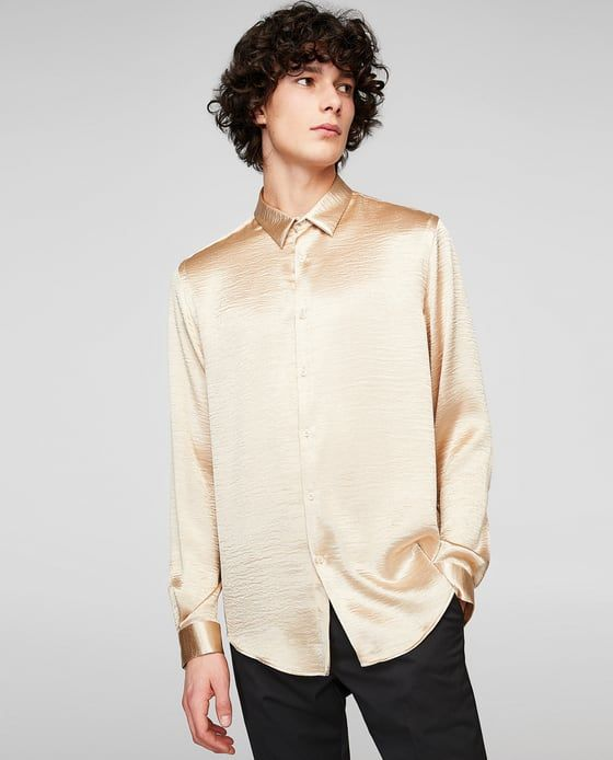 b8a06fe8132caa FLOWING GOLD SHIRT from Zara | Wishlist in 2019 | Shirts, Mens  fashion:__cat__, Zara