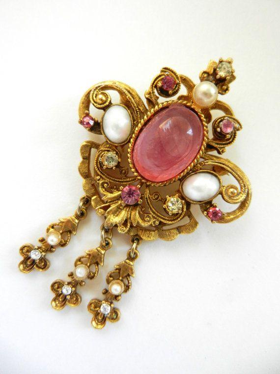 Victorian revival dangle brooch/pendant By SPHINX by RAKcreations