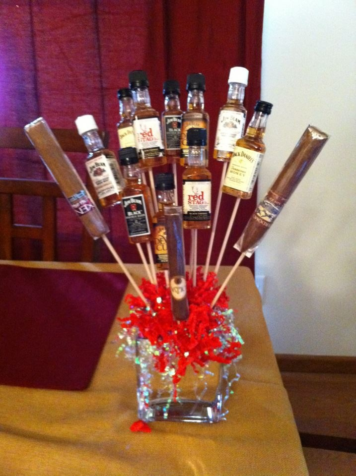 This would be a great groomsmen (aka Kristin wedding) gift to just sit in the room while they are getting ready.  Could do the same for the ladies, but I'd add chocolate versus cigars.  Great gift idea too!Add Chocolates, Groomsmen Gift, Amazing Grooms Groomsman, Grooms Gift, Chocolates Versus, Groom Gifts, Groomsman Gifts, Grooms Groomsman Gift, Wedding Gifts
