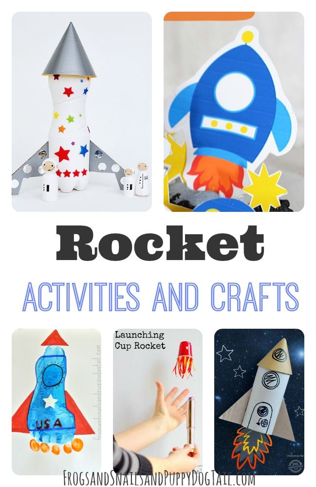 Rocket activities and crafts for kids