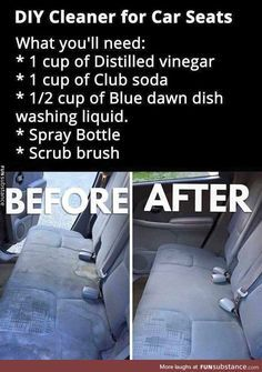 DIY clean your car seats