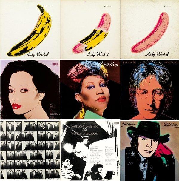 ANDY WARHOL Rare ensemble de cinquante-trois #albums et disques #vinyles réalisés par Andy #Warhol. (Sont inclus l'Index Book et sa couverture en impression lenticulaire ainsi que le magazine FAB contenant divers éléments ainsi qu'un disque souple)