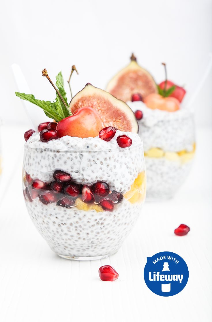 For a tasty treat that's high in protein, probiotics, omega-3s and flavor, whip up a batch of our Kefir Chia Pudding! Prep it the night before for a quick and healthy breakfast.