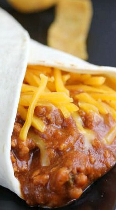 Taco Bell Chili Cheese Burrito Recipe ~ The chili cheese burrito combines chili flavored ground beef, refried beans and cheddar cheese in a tortilla.